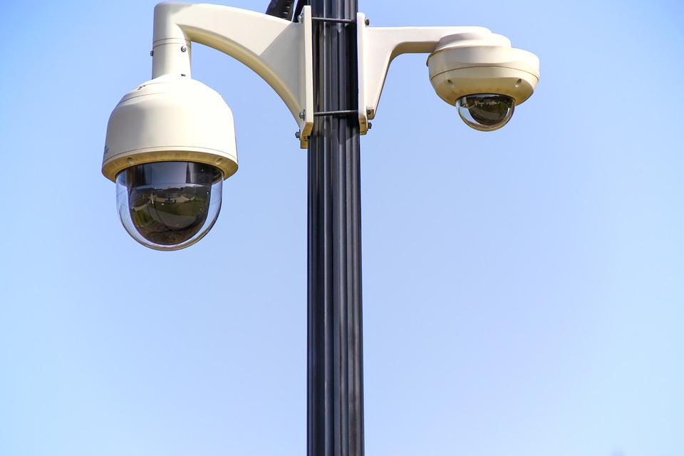 CCTV cameras watching the street below