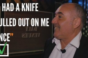"Anthony – ""I had a knife pulled out on me once."""