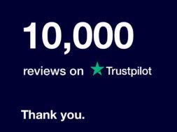 10,000 Trust Pilot Reviews