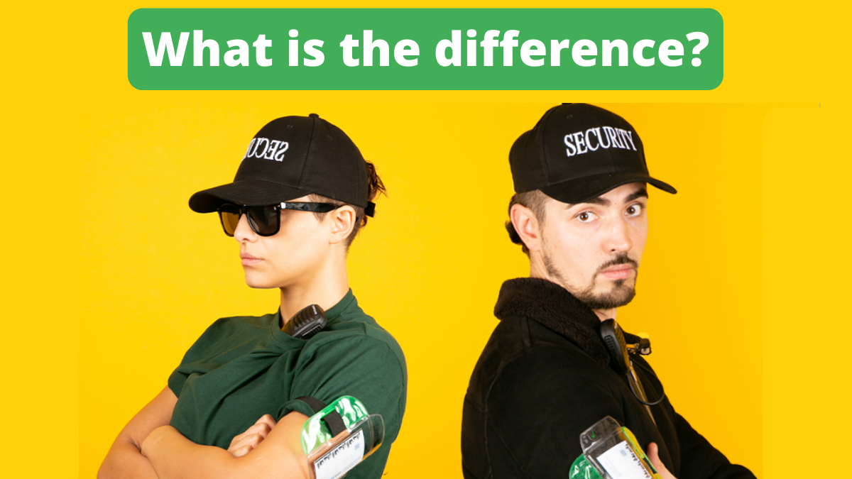What is the difference between a Door Supervisor and a Security Guard?