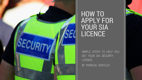 How to apply for sia licence