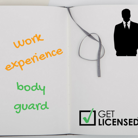 work experience body guard